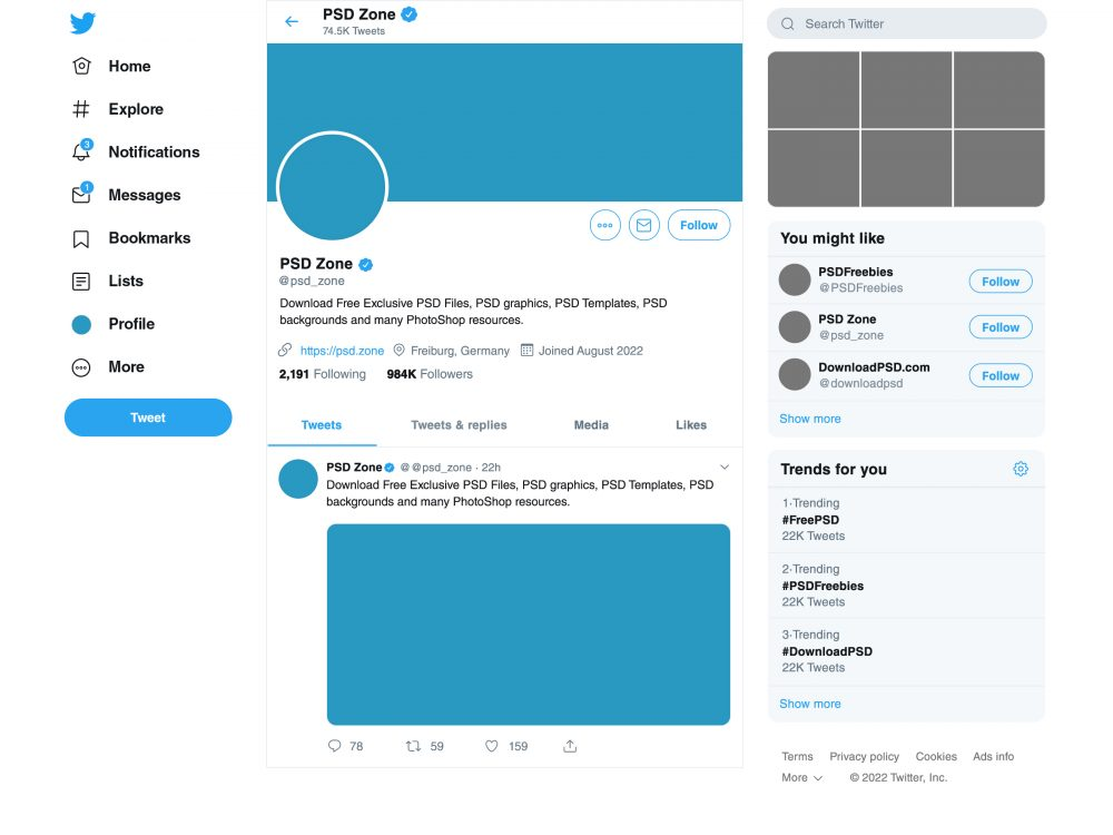 New Twitter Page Mockup