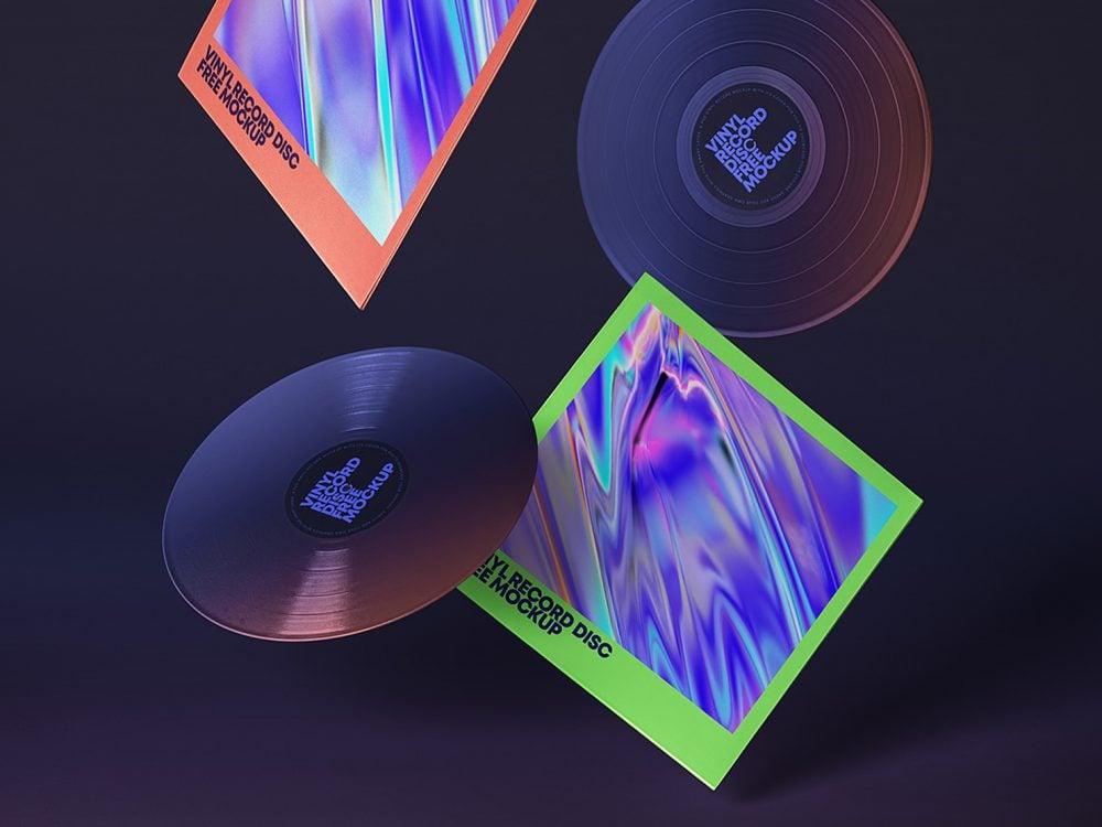 Gravity PSD Vinyl Mockup