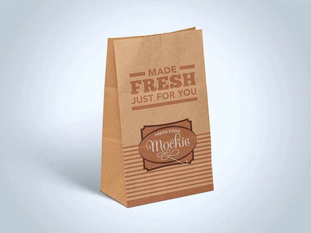 Kraft Paper Take Away Food Packaging Mockup