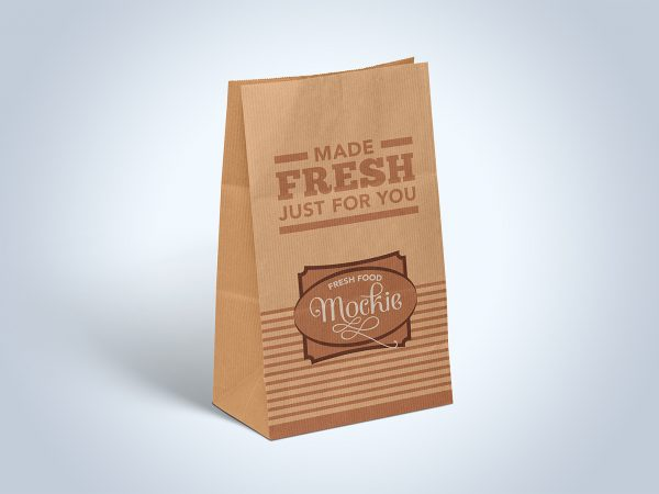 Kraft Paper Take Away Food Packaging Mockup