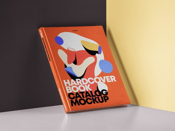 PSD Hardcover Book Catalog Mockup