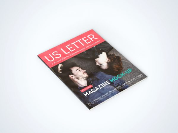 US Letter Magazine Mock-Up Free Sample Scene
