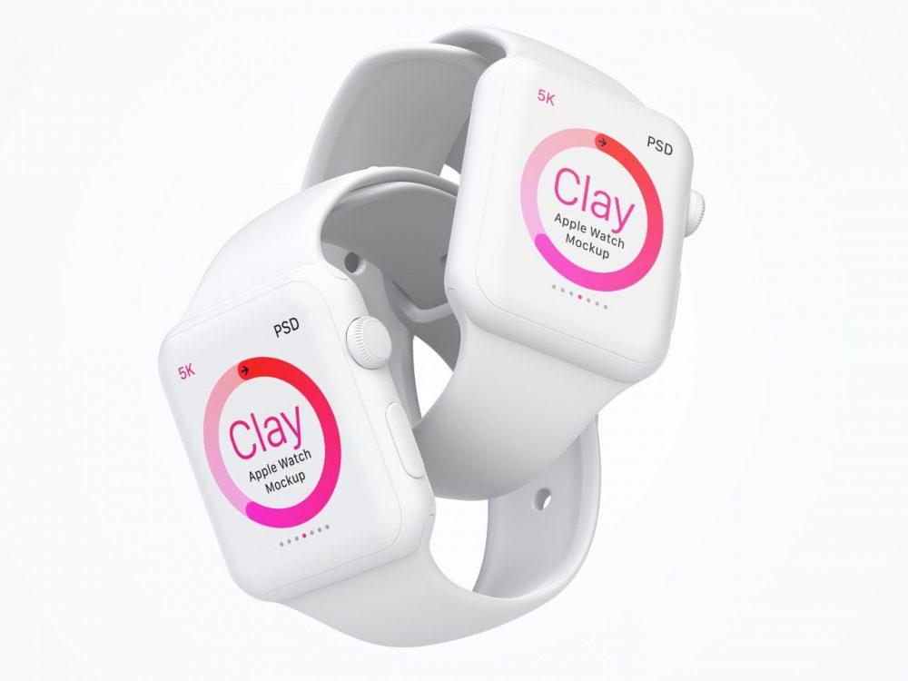 Clay-Apple-Watch-PSD-Mockup-0