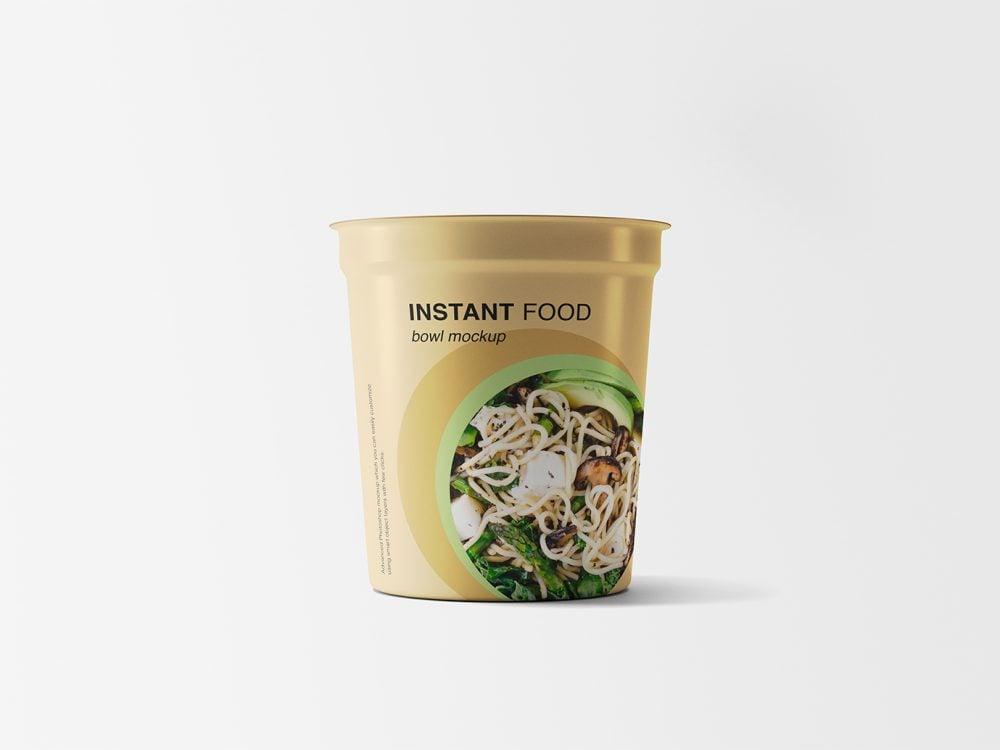 Food Plastic Bowl Mockup