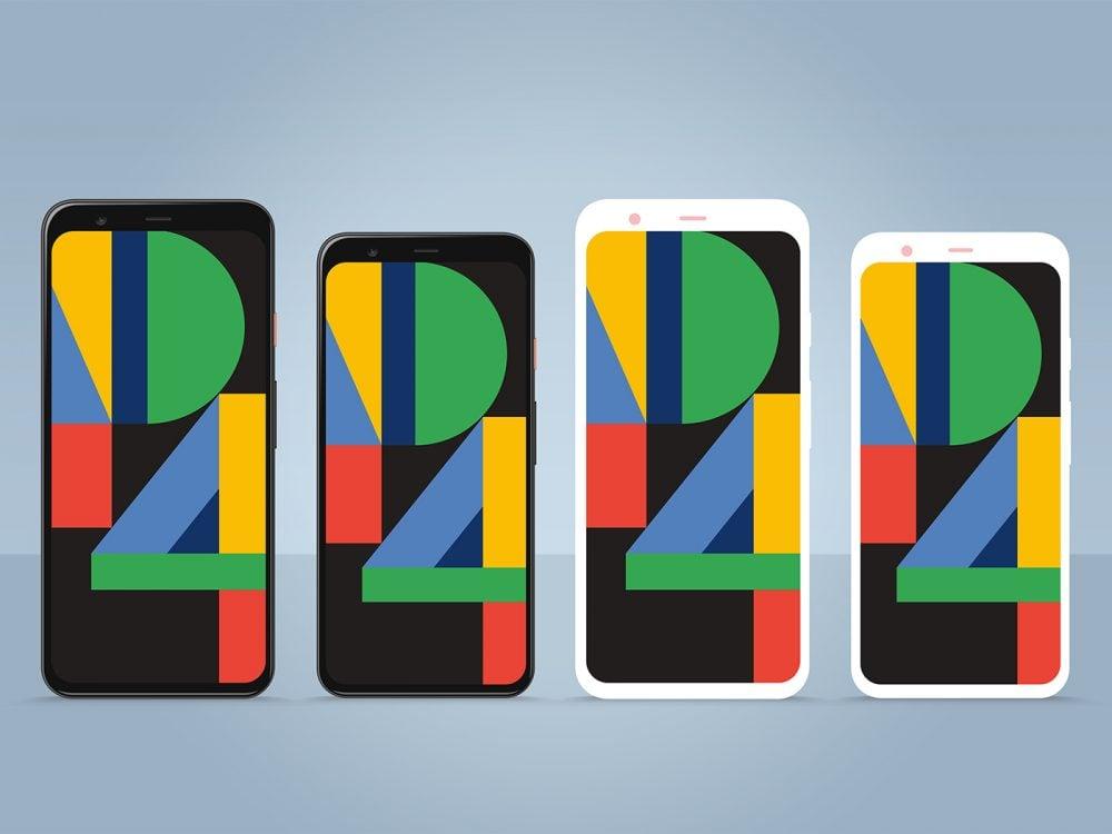 Free Google Pixel 4 & 4 XL PSD Mockup