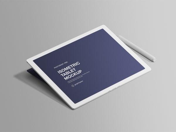 Isometric Tablet Mockup