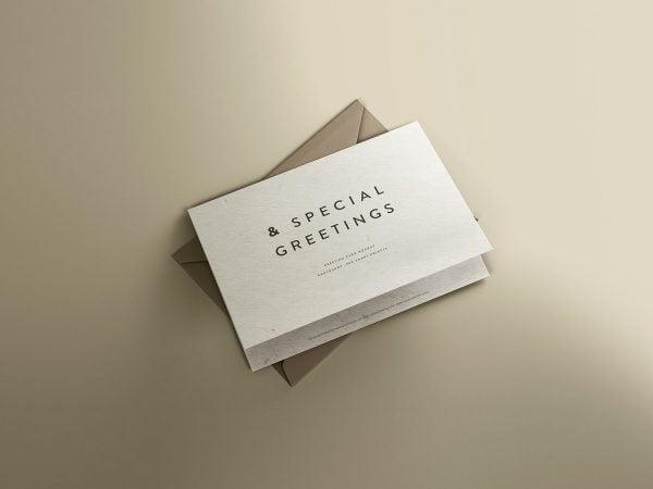PSD Greeting Card Mockup