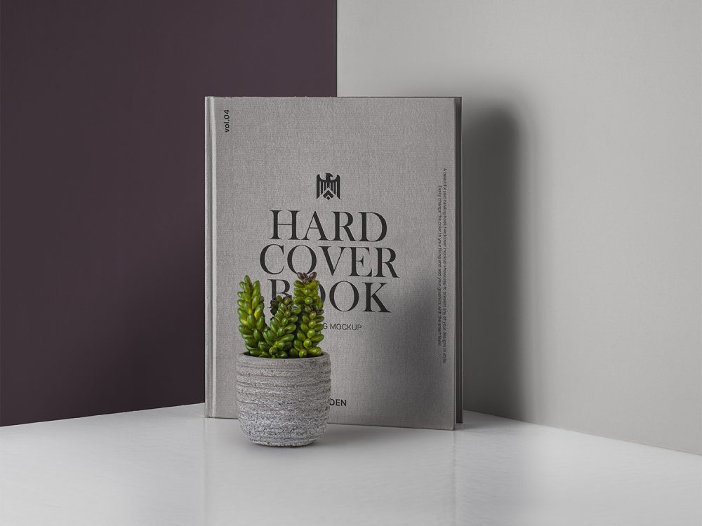 PSD Hardcover Book/Catalog Mockup