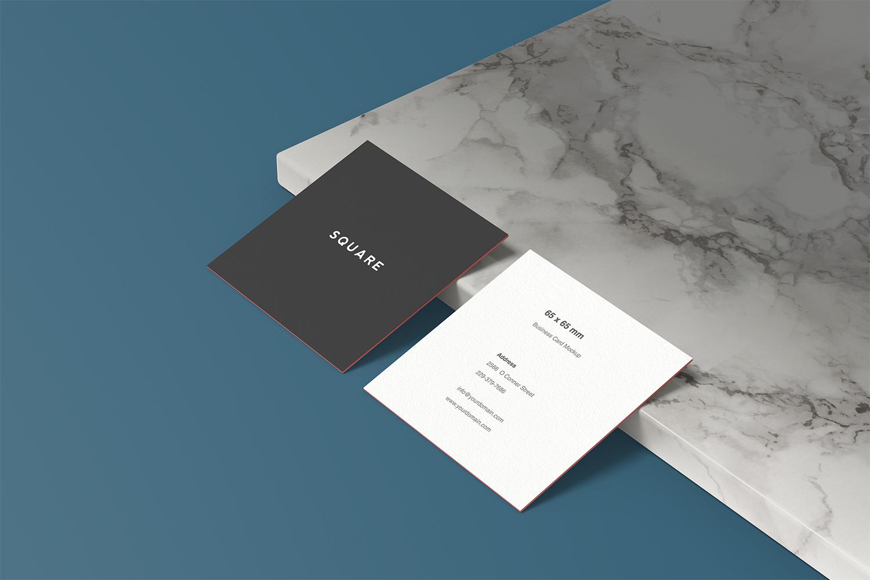 Square Business Card Mockup Free Mockup