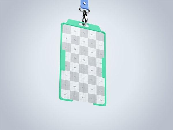 Vertical ID Card Mockup