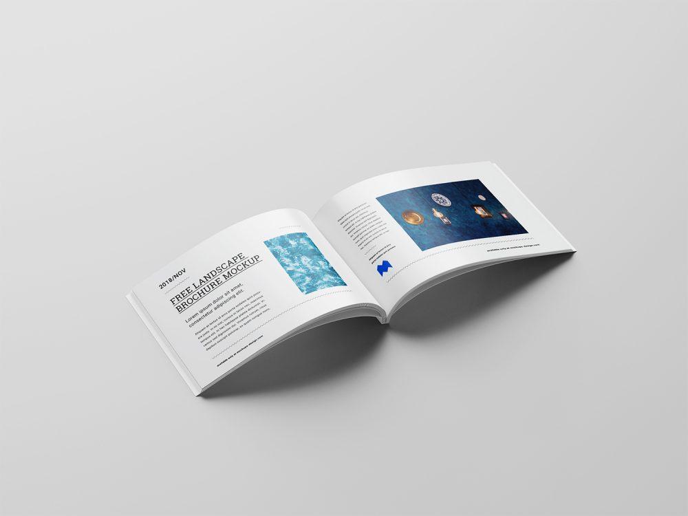 Free Binding Landscape Brochure Mockup