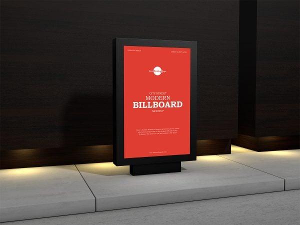 Free City Street Modern Billboard Mockup