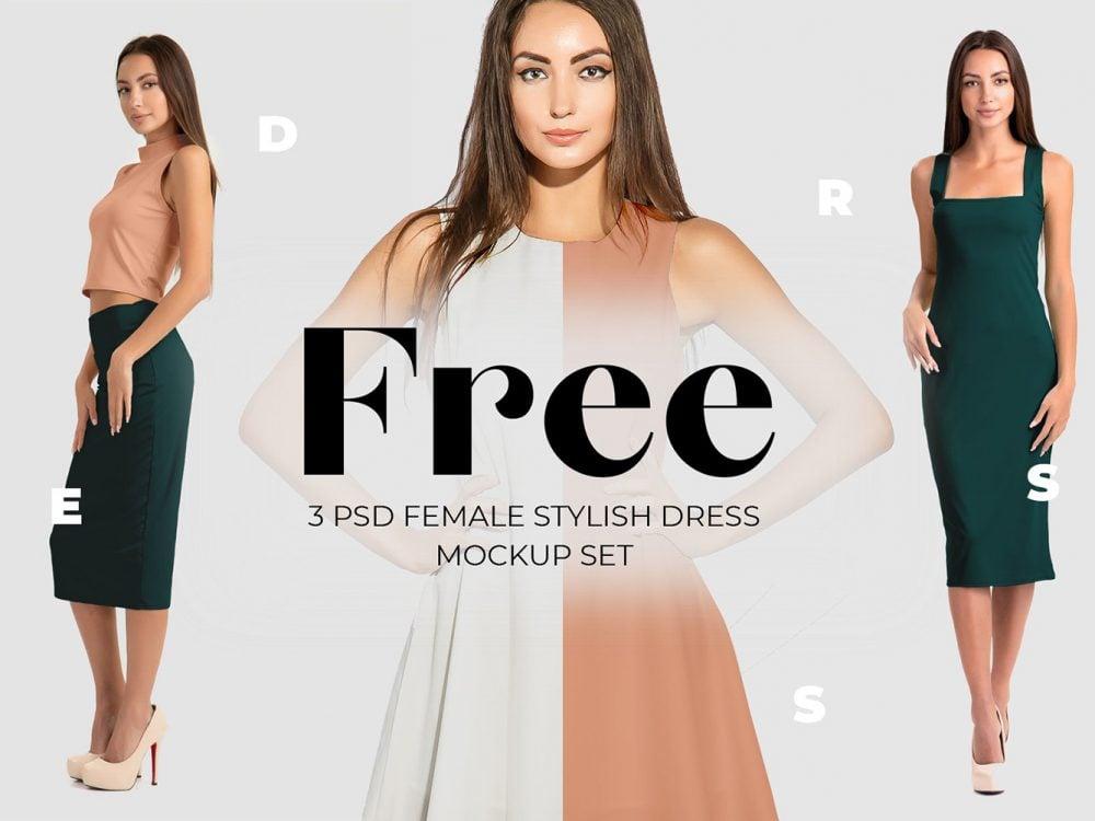 Free Elegant Dress Mockup Set