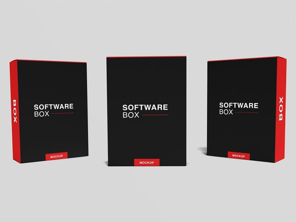 Free Realistic Software Box Mockup