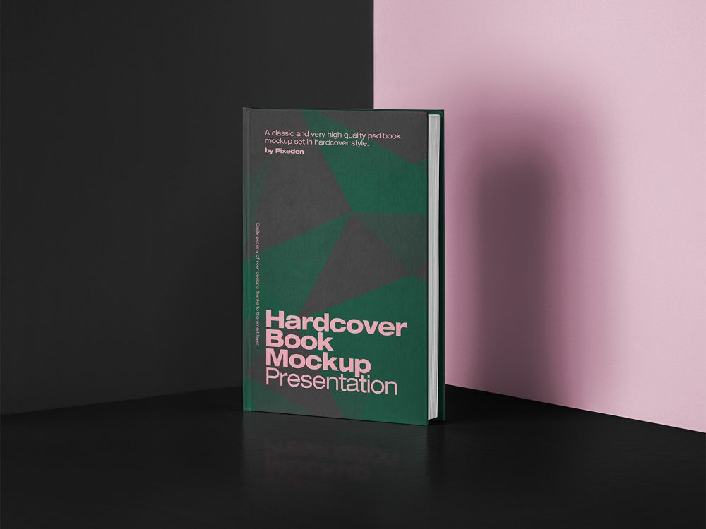 PSD Book Mockup Hardcover