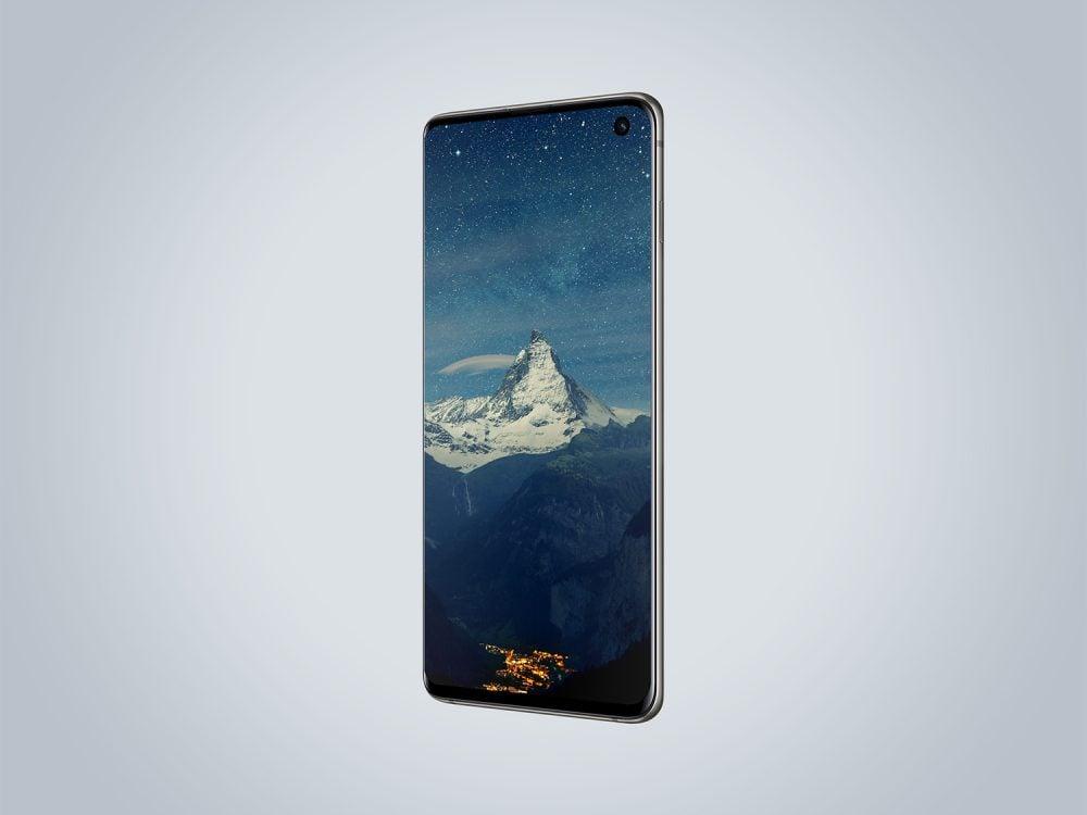 Samsung Galaxy S10 Perspective Mockup