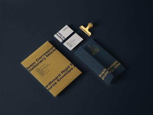Stationery Mailing PSD Envelope Mockup