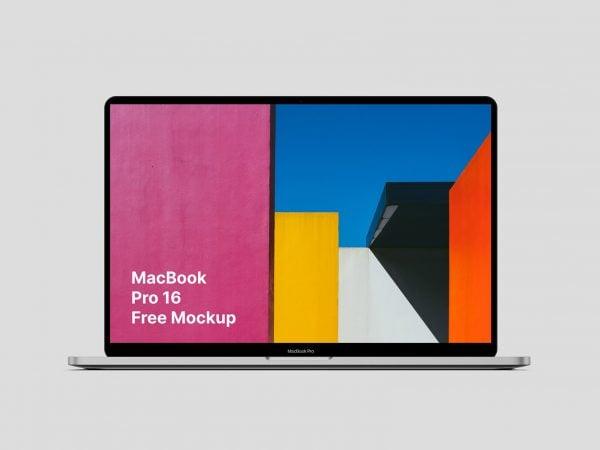 Free MacBook Pro 16 Mockup