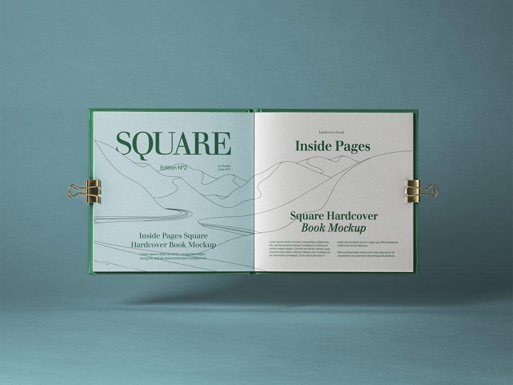 Open Square PSD Catalog Mockup