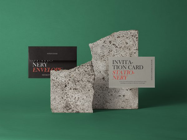 PSD Invitation Mockup Set