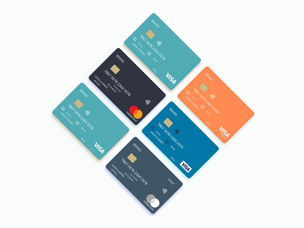 Contactless Credit Card Free Mock-Up
