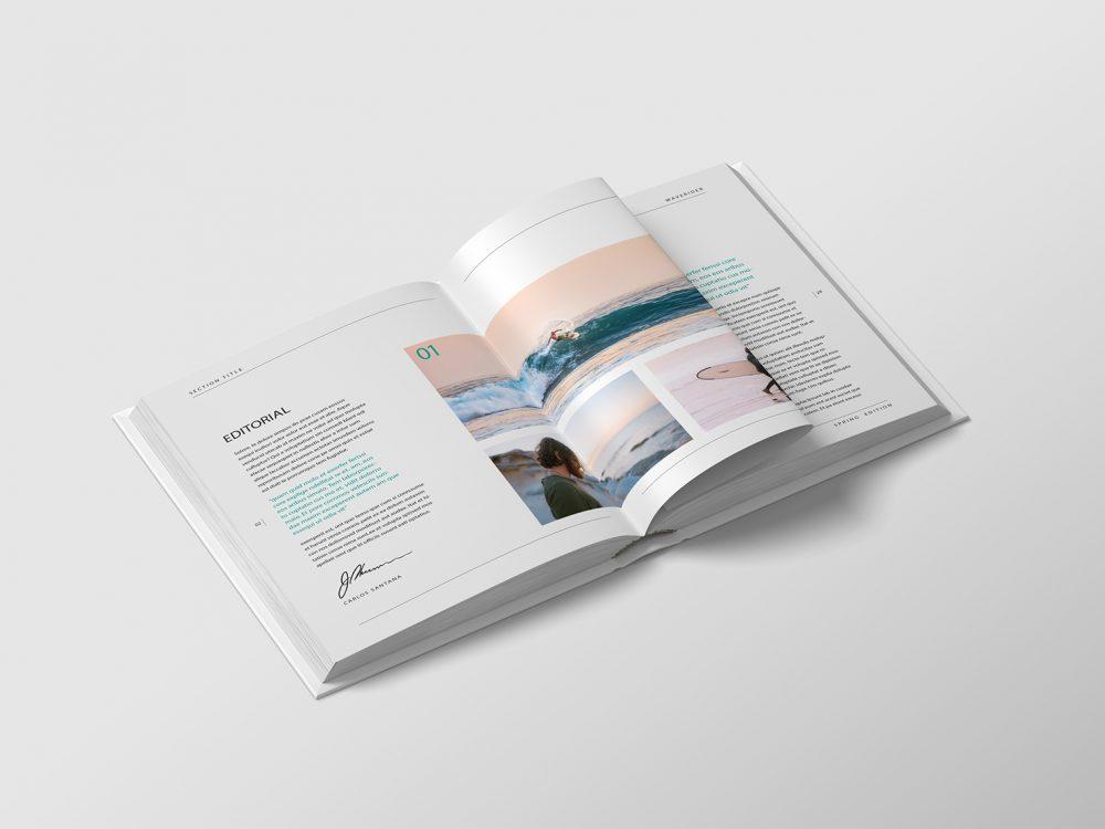 Free Book PSD Mockup