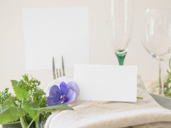 Place Card & Table Number Mock-Up