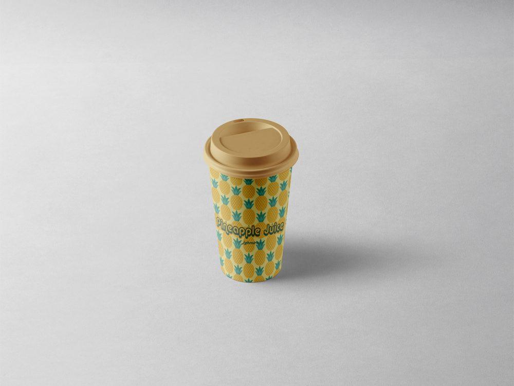 Free Box and Coffee Cup Mockups