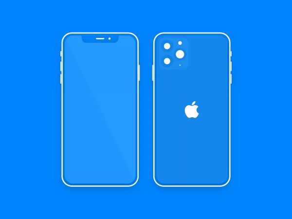 Minimal iPhone 11 Pro Sketch Mockup