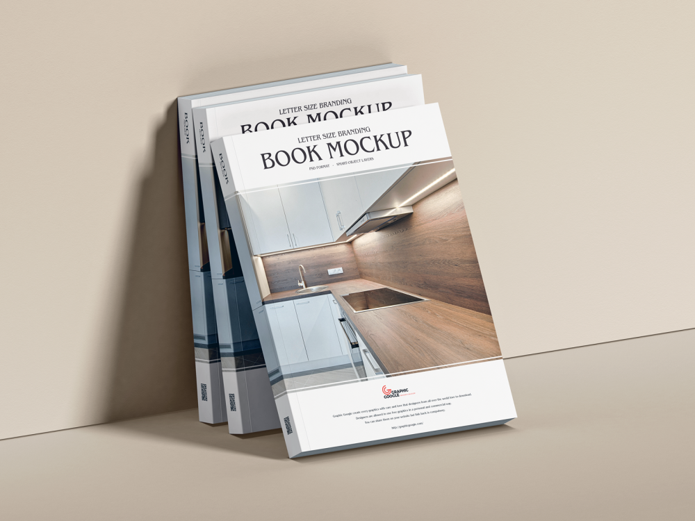 Free Letter Size Book Mockup