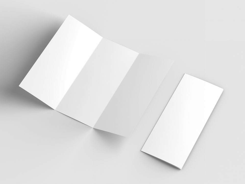 Free US Letter Trifold Mock-Up