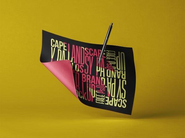 Landscape Brand Paper PSD Mockup