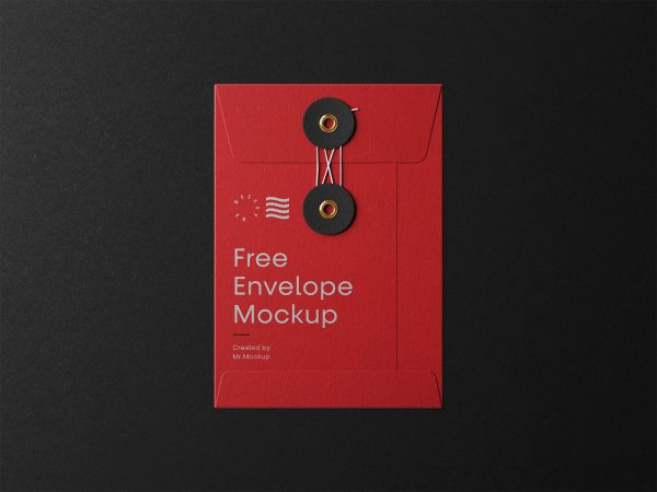 Small String Envelope Mockup