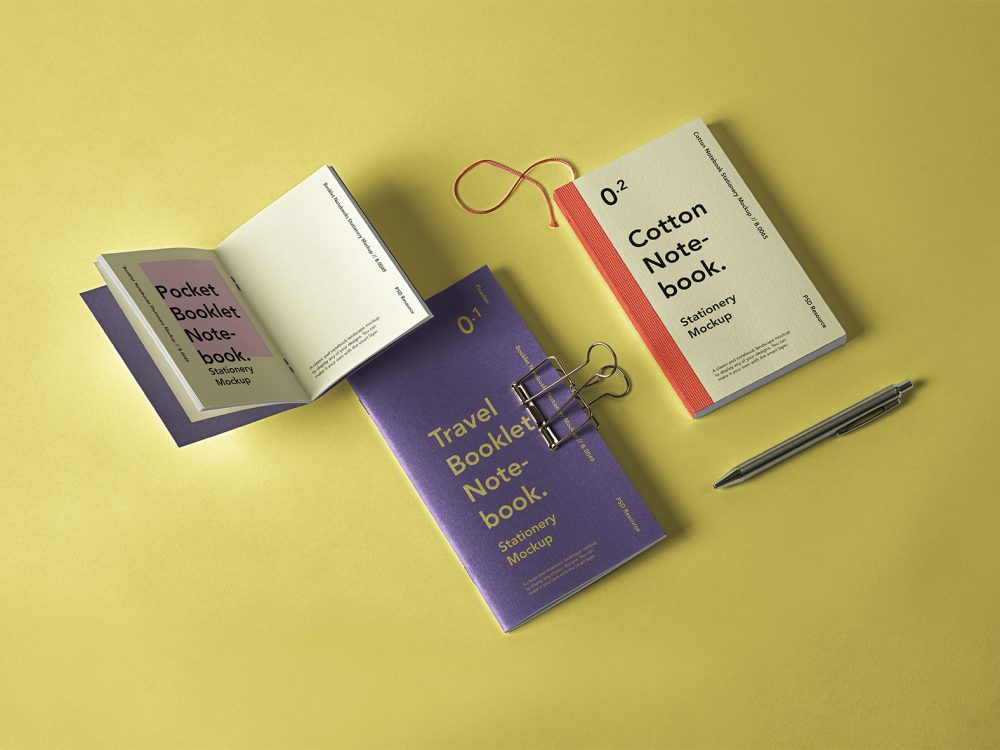 Booklet Notebook PSD Mockup Set