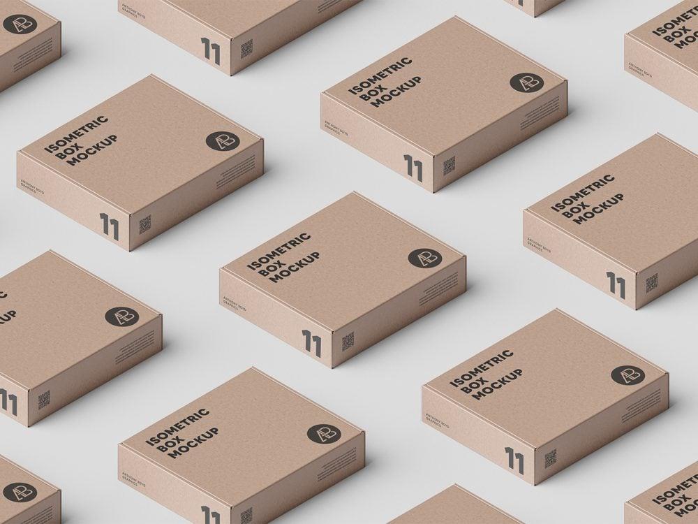 Box Grid PSD Packaging Mockup