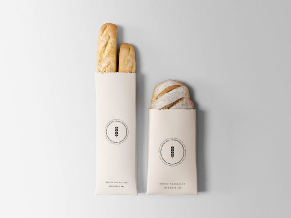 Bread Packaging Paper Bag Mockup