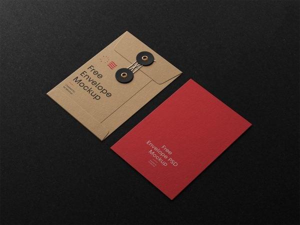 Envelope with String Mockups