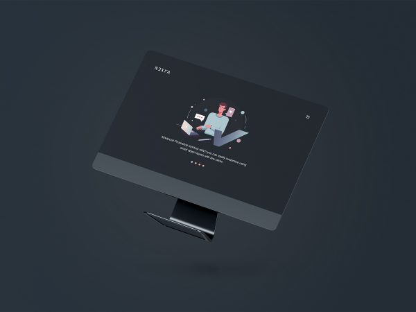 Floating iMac PSD Mockup