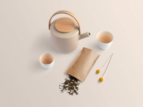 Free Tea Branding Packaging Mockup