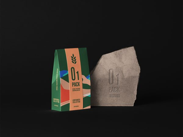 Herbal Paper Bag Packaging Mockup