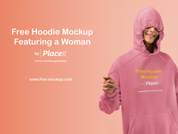 Hoodie Mockup Featuring a Woman