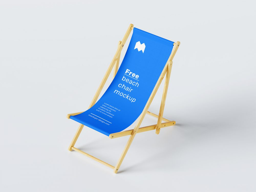 Free Beach Chair Mockup