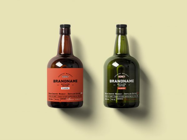 Free Rum Bottle Mockup