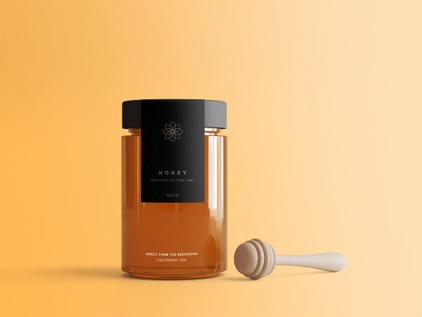Honey Jar Free Package Mockup