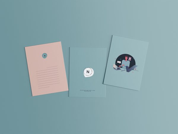 3 Postcard PSD Mockups