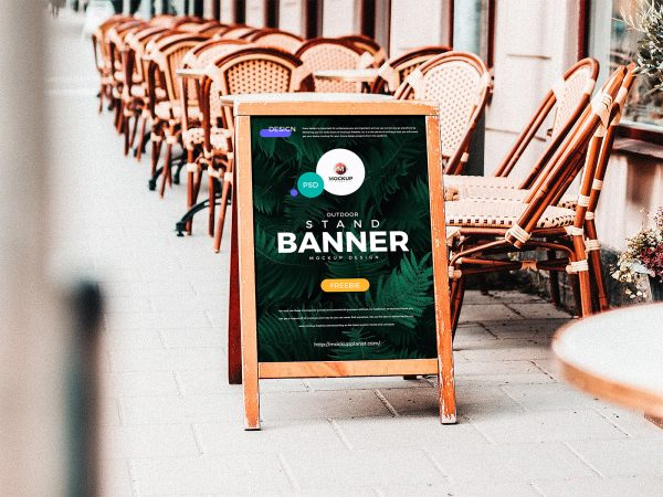 Free A-Stand Banner Mockup