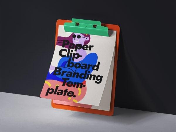 Paper PSD Clipboard Mockup