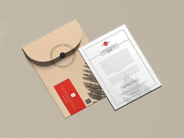 Envelope with Invitation Card Free Mockup