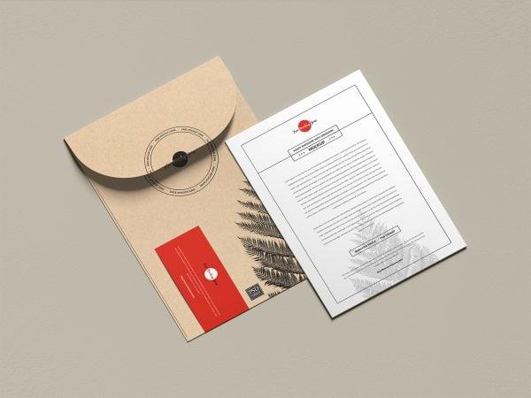 Envelope with Invitation Card Free Mockup