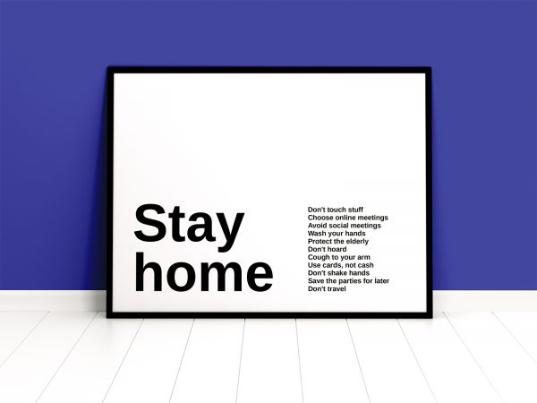 Framed Poster Mockup Free
